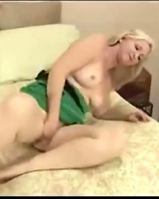 Sexy shaved granny going wild