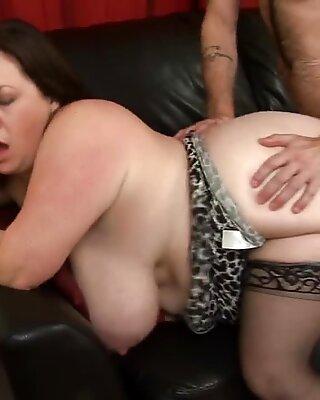 fat hooters Mature Roxy J Gets pummeled