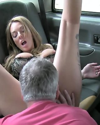 Naughty milf ride big shaft in taxi