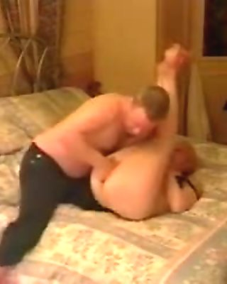 I'm getting my dong sucked in amateur mature video