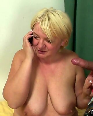 he finds busty girlfriends sexy milf toying her horny pussy