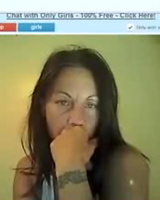 Ugly old wife strips on a webcam