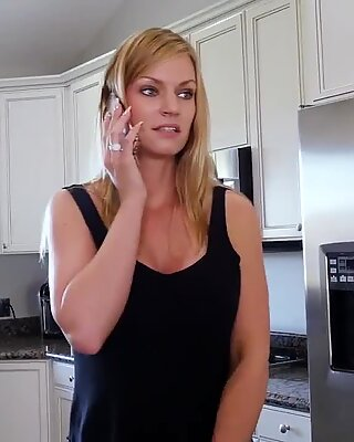 British milf stockings and heels wife phone blowjob Hot MILF For His Birthday