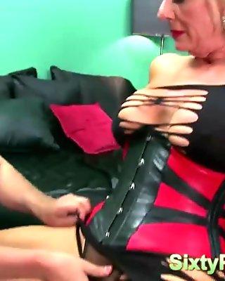 Hot mature slut wants a cock inside her ass