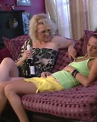 Granny seduces her son's snoozing GF