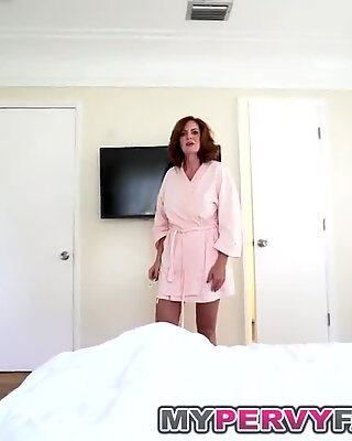 Horny Busty Milf Andy romps Her Step sonnies gigantic Cock!
