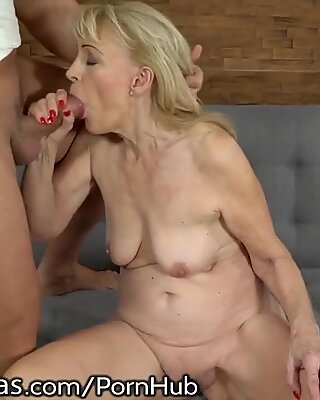 Lust Filled Granny Plowed by Young Dick