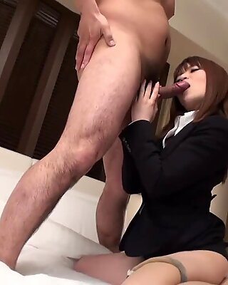 Beautiful Japanese girl screwing with her boss