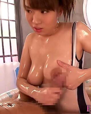 Asian model grinding cock with tits and ass